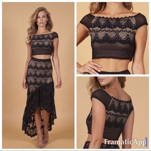 .NWT nightcap free people lace crop top bxtt